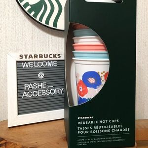 Starbucks 2020 Release Reusable Hot Cups Pack NWT